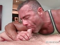 Horny guy in deep anal fuck