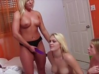 Sweet blonde college chick becomes the sorority sex toy