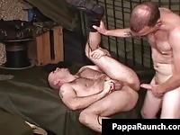 Horny gay mature couple fucking