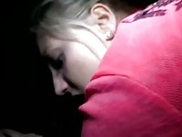 Hottest blonde amateur fucked and giving head in the cab