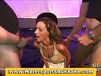 Watersports fetish chick soaked and fucked