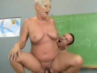 Lusty mature chemistry teacher fucking!