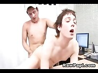 Sweet college boys fucking in some office
