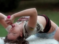 Stunning Ivana takes toy in the park