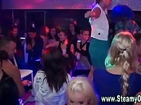 Real CFNM party babes sucking and fucking strippers