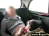 Luscious amateur sucking and riding a cabbie's schlong