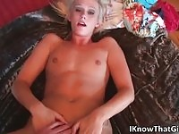 Hottest blonde amateur fucked POV style