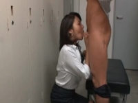 Japanese office slut sucking!