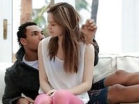 Teen beauty pumped by black cock
