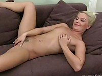 Real milf fucked on adult porn casting movie