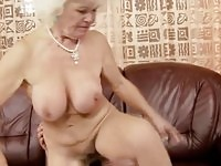Lusty blonde granny in wild fuck