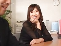 Japanese office slut fingering