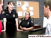 Sexy police officers taking advantage of prisoners