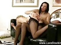 Sexy Lara and friend enjoy toy in ass and pussy