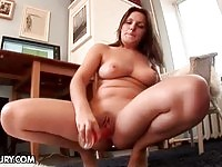 A busty amateur slut masturbating