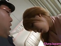 Naughty Japanese nurse sucking