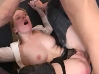 Super hot blonde Russian doll fucked in the ass by her angry boyfriend
