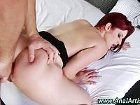 Enticing redhead loves getting her ass fucked