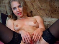 Blue eyed blonde squirting