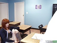 Redhead teen fucked in detention