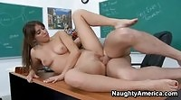 Sexy teen babe fucked in class by her horny teacher