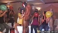 Sinful bachelorettes giving out handjobs at a crazy party