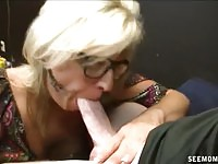 Mrs. Riley sucking cock