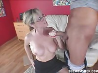 Awesome MILF sharing a massive dick with her daughter