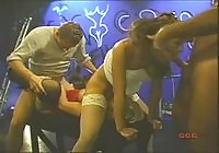 Two dirty German sluts gangbanged by some guys