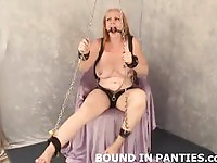 Chained amateurs waiting for their punishment compilation