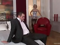 Sensual blonde MILF gets her pussy and ass hammered