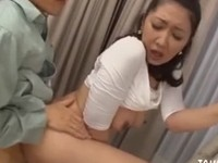 Sweet oriental chick banged by the handy man