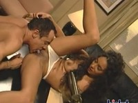 Superb upper class ebony sucking the boss's cock