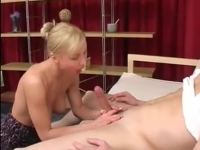 Horny blonde mom in anal fuck