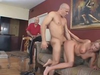 Blonde wife fucked in front of her husband