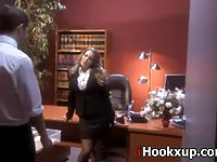Graceful secretary pounded by her horny boss