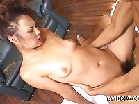 Hairy Japanese does hard cock