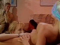 Sexy blonde cheating on her husband with her lesbian friend