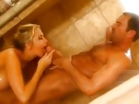 Hot babe Alanah sucks and fucks in the shower