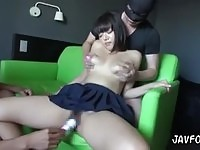 Oriental sex doll tormented by the owners