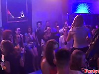 Cum craving euro bachelorettes having an orgy in the club