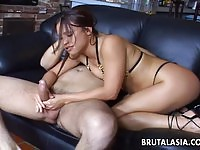 Impressive oriental babe fucked without remorse