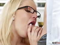 Vanessa Cage fucked in the office