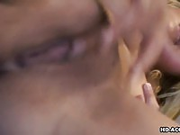 Blonde smoker fingering