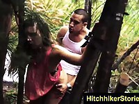 Hitchhikers forced into hard fuck