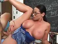 Craving teacher Harley Raine fucked by a student