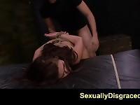 Bound Mena Li fucked and facialized by her master
