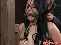 Sexy Veruca James gets pussy tortured by her master