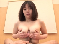 Aroused Asian housewife milking cock