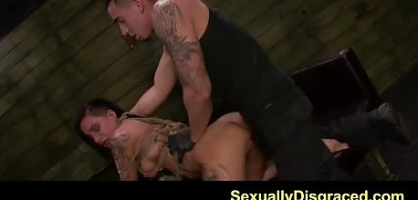Tattooed BDSM chick Alby Rydes likes it rough